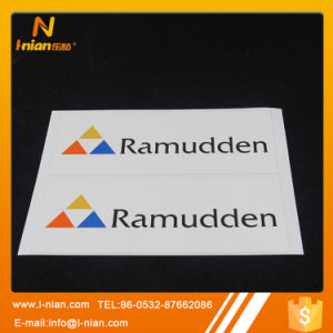 Custom Vinyl Company Logo Embossed Adhesive Label Sticker pictures & photos
