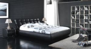 Classic Leather Bedroom Soft Bed (6022) pictures & photos