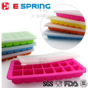 21 Slots Silicone Ice Cube Tray with Lid Food Freezer Container pictures & photos