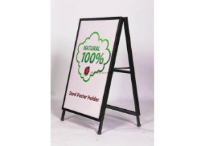 24 X 36 a Steel Metal Sandwich Boards Poster Signs Blackboard Outdoor Chalk Double Graphics Portable Advertising Display Equipment Stand Frame pictures & photos