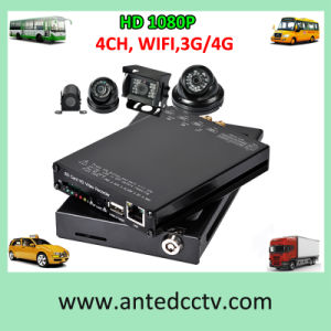 4CH Mini Car Bus Mobile DVR with WiFi HD 1080P 3G/4G SD Card Storage pictures & photos