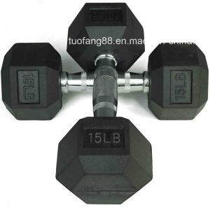 Chromed Rubber Vinyl Dumbbell