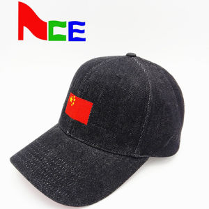 Distressed Denim Fabric Customized 3D Embroidery for Golf Baseball Cap pictures & photos
