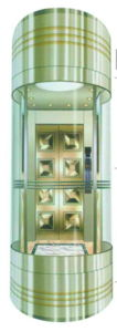 Semi-Circle Panoramic Elevator with Rear Wall in Glass pictures & photos