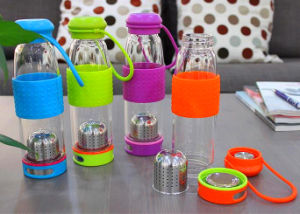 Glass Sport Cup Portable Glass Bottle Multicolor Glass Cup Gift Customize Logo Glass Cup pictures & photos