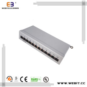 12 Ports STP Mini Cat5e Patch Panel with 110 IDC pictures & photos