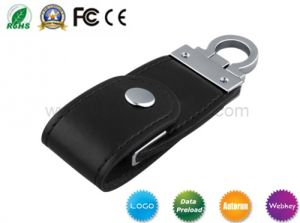 Computer Accessories USB Disk Gadget 4gig 8gig Customized Logo Leather USB pictures & photos