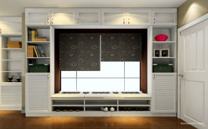 Professional MDF Door Wardrobe Bed Frame Living Room Furniture (zk-006) pictures & photos