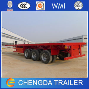 3 Axles 40feet 20feet Container Flatbed Trailer 40ton pictures & photos