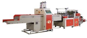 2 Line Full Automatic Pouncher T-Shirt Bag Making Machine (Manufacturer) pictures & photos