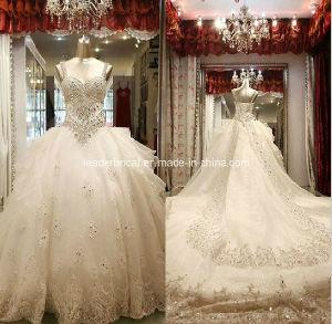 Crystal Bridal Wedding Ball Gowns Rhinestones Wedding Dress W1330 pictures & photos