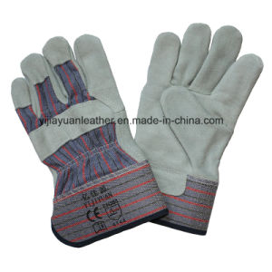Cow Split Leather Hand Working Gloves with Ce En388 pictures & photos