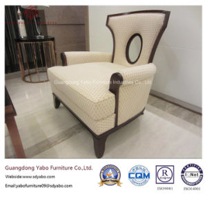 New Five Star Hotel Furniture with Solid Wood Armchair (FC-01) pictures & photos