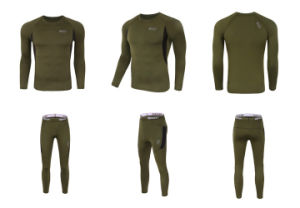 Black Outdoor Sports Underwear Tactical Thermal Fleece Warm Clothing pictures & photos