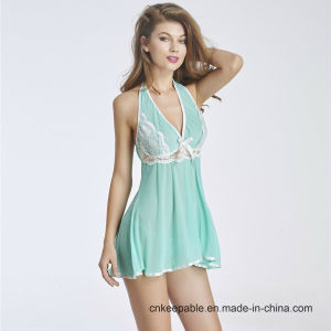 Hot Sale Transparent Nightwear Sleepwear Sexy Lingerie for Fat Women pictures & photos
