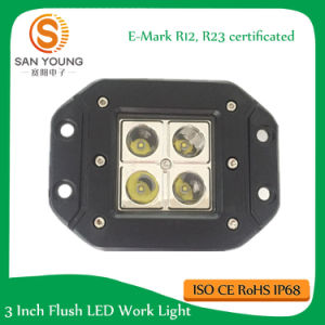 4inch 16W Square Cube Pods LED Work Light off Road Trucks Driving with E-MARK pictures & photos