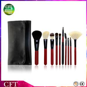 Free Sample Makeup Brushes 10PCS Custom Logo Goat Hair Cosmetic Brushes pictures & photos