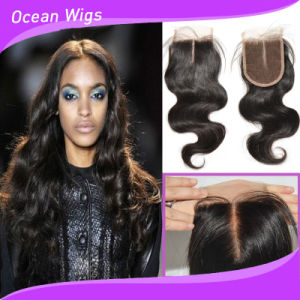 Cambodian Virgin Remy Hair Deep Wave Silk Top Lace Closure (LC-023) pictures & photos