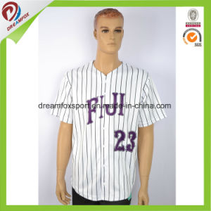 Cheap Custom Pinstripe Wholesale American Flag Baseball Jersey pictures & photos