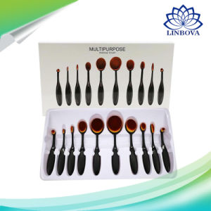 Valentine′s Gifts 10PCS Makeup Brush Set Classic Black Handle Make up Brushes Kit Tools for Women Cosmetics pictures & photos