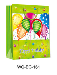 Large 3D Gift Paper Bag with Glitter and Tag pictures & photos
