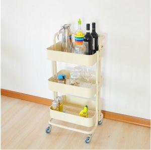 Awesome Best Selling 3 Tier Kitchen Trolley On Wheel Vegetable Rack Fruit Storage  Basket Corner Shelf