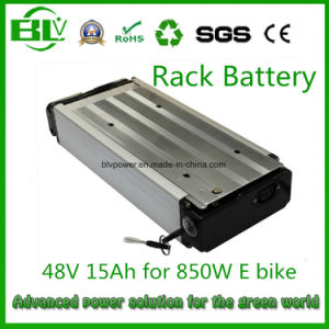 Rear Rack Ebike Battery of 48V 15ah Lithium-Ion Battery Pack From Chinese OEM/ODM Factory in China with Stock pictures & photos
