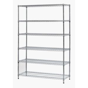 Free Standing 6 Shelves Chrome Metal Shop Supermarket Display Rack Shelving for Sale pictures & photos