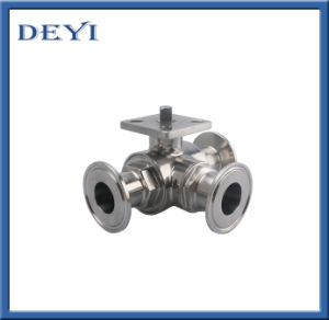 Sanitary Stainless Steel Three Pieces Non Dead Angle Ball Valve pictures & photos