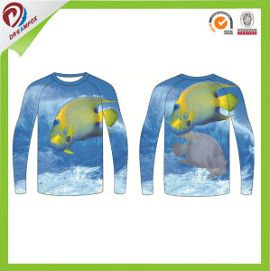 Custom Long Sleeve Breathable 100% Polyester Fishing Shirt pictures & photos