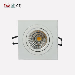High Quality Recessed COB Chip 7W 9W 3000K LED Square Downlight for Hotel pictures & photos