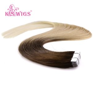 High Quality Virgin Human Hair Brazilian Remy Tape Hair Extension pictures & photos