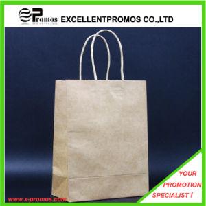 Customized Logo Natural Kraft Shopping Bag (EP-FP55514B) pictures & photos