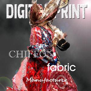 Custom Design Print on Chiffon Fabric 100% Silk Chiffon (M027) pictures & photos