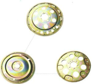 Auto Fly Wheel/Casting Parts with Zinc Gold Plating