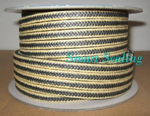 PTFE/Graphite with Aramid Fiber in Corners Braided Packing (SMT-PP-127)