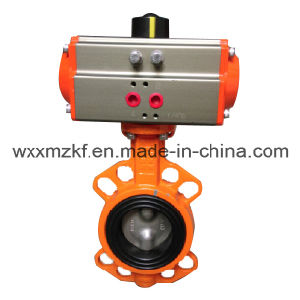 Oil Control Pnematic Butterfly Valve pictures & photos
