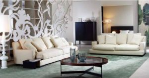 White Modern Fabric Sectional Sofa Set for Living Room pictures & photos