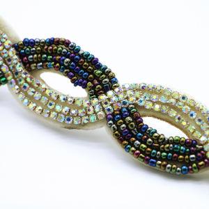 New Bohemian Style Rhinestone Beads Hairbands National Handmade Elastic Original Luxury Hairwrap Personality Headbands pictures & photos
