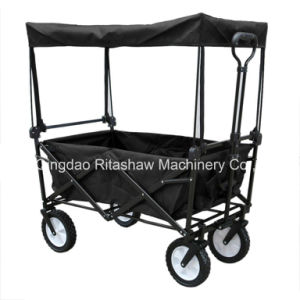 Collapsible Utility Yard Garden Folding Wagon Cart