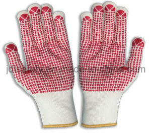 Nylon Glove with PVC Dotted Palm (S5101) pictures & photos