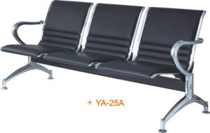 Metal Steel 3-Seaters Cheap Price Barber Waiting Chairs (YA-25A) pictures & photos