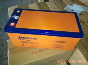 12V200ah Deep Cycle Solar Power VRLA UPS Battery for 48V Solar Wind System pictures & photos