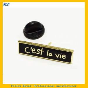 Hard Enamel Filling Gold Plating Name Badge