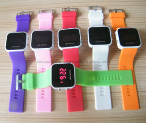 Colorful LED Digital Silicone Watch Band with Customer Logo pictures & photos