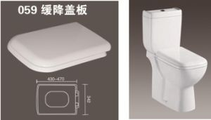 PP Toilet Seat Toilet Seat Cover with Slow Down 059 pictures & photos