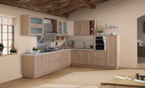 Modern White and PVC Finish Kitchen Furniture (zc-049) pictures & photos