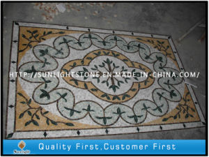 Custom Design Marble Stone Mosaic Flooring for Hotel Lobby pictures & photos