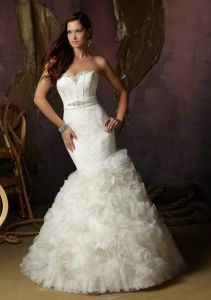 Ruffle Organza Bridal Wedding Dresses (WMA006) pictures & photos