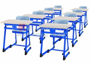Customized School Student Fixed Single Desk and Chairs pictures & photos